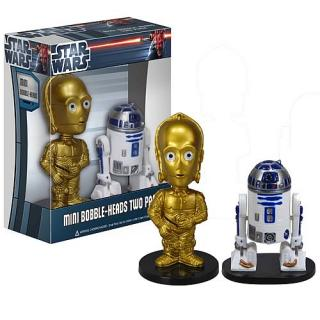 STAR WARS C-3PO AND R2D2 Ultra Mini Bobble Heads 2-Pack